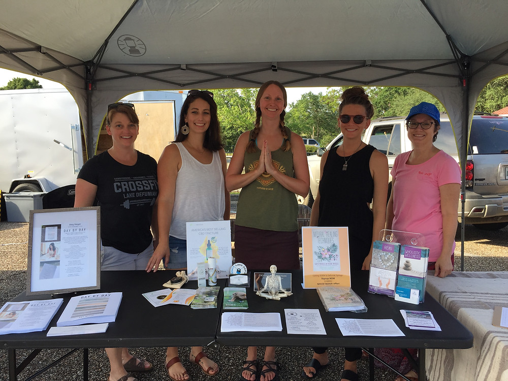DeFuniak Wellness Ambassadors at Main Street Farmers Market (Carrie, Amy, Whitney, Cynthia, Joanne)