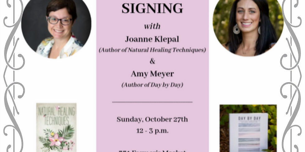 Book Signing   Meet & Greet at 331 Farmers Market