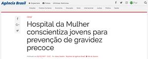 Hospital da Mulher Heloneida Studart, Ana Teresa Derraik, Gravidez precoce, Nosso Instituto, Gravidez na adolescência, gestaçãona adolescência, ong, saúde, Agência Brasil