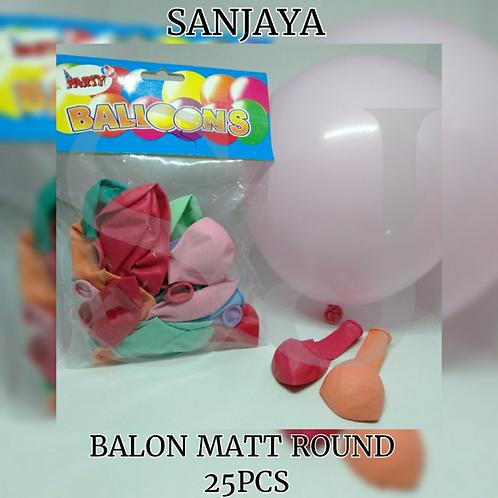 BALON MATT ROUND 25PCS