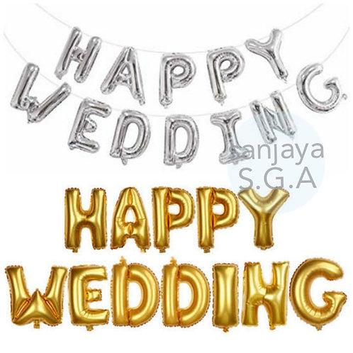 BALON SET HAPPY WEDDING