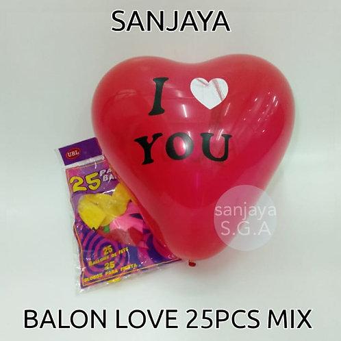 BALON LOVE 25PCS MIX