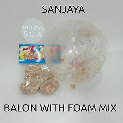 BALON WITH FOAM MIX
