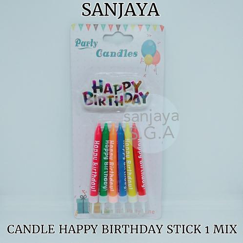 CANDLE HAPPY BIRTHDAY STICK