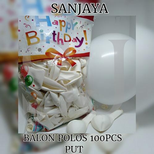 BALON POLOS 100PCS