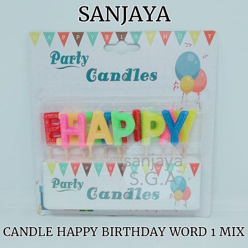 CANDLE HAPPY BIRTHDAY WORD MIX