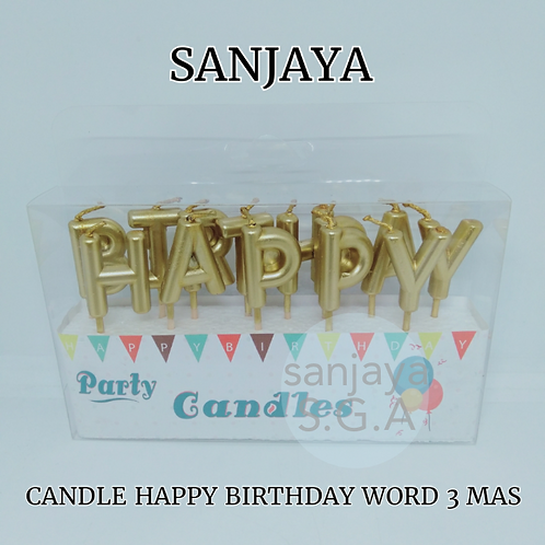 CANDLE HAPPY BIRTHDAY WORD 3