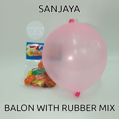 BALON WITH RUBBER MIX