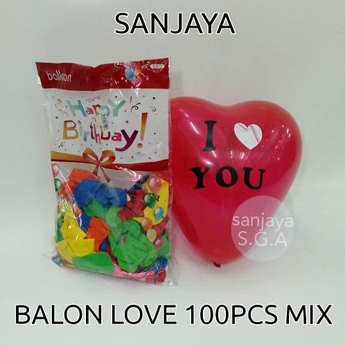 BALON LOVE 100PCS MIX
