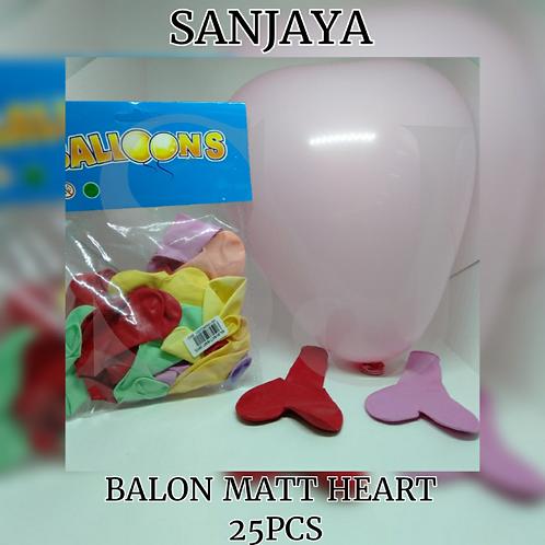 BALON MATT HEART 25PCS