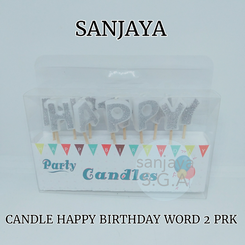 CANDLE HAPPY BIRTHDAY WORD 2
