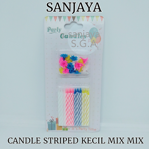 CANDLE STRIPED KECIL MIX