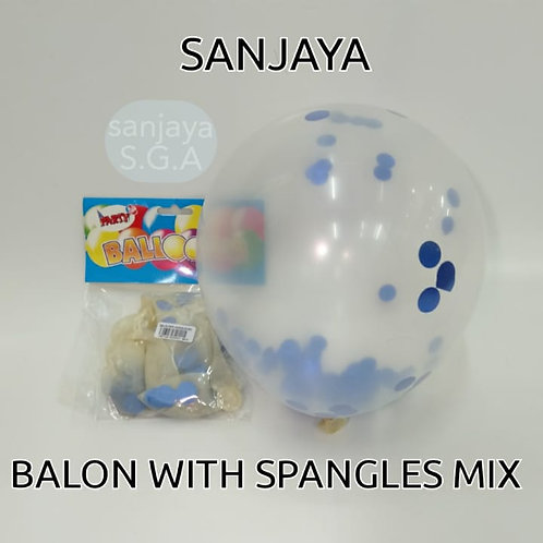 BALON WITH SPANGLES MIX