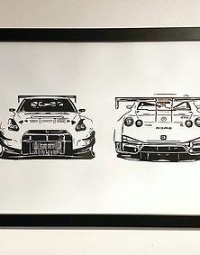 Nissan GTR Wall Art