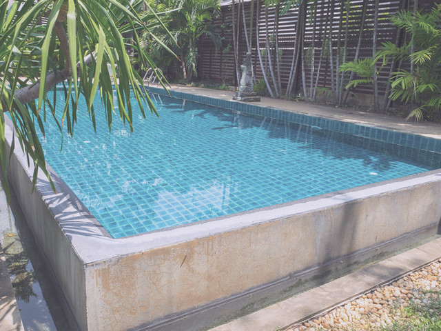 Check and Monitor Pool pump guages, water level, conditon of water, equipment