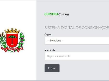 sistema digital de consignações - PREFEITURA DE CURITIBA