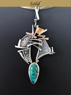 Malachite-Azurite Pendant