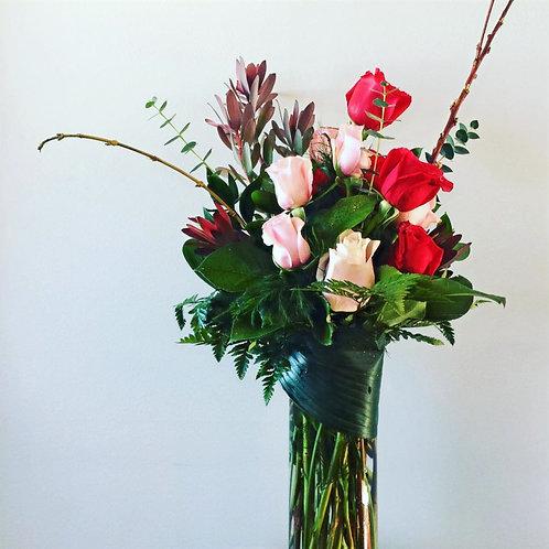 Special Valentine's vase arrangement
