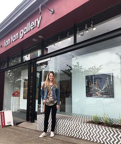 Artist Emilie Fantuz at Ian Tan Gallery, Vancouver Canada