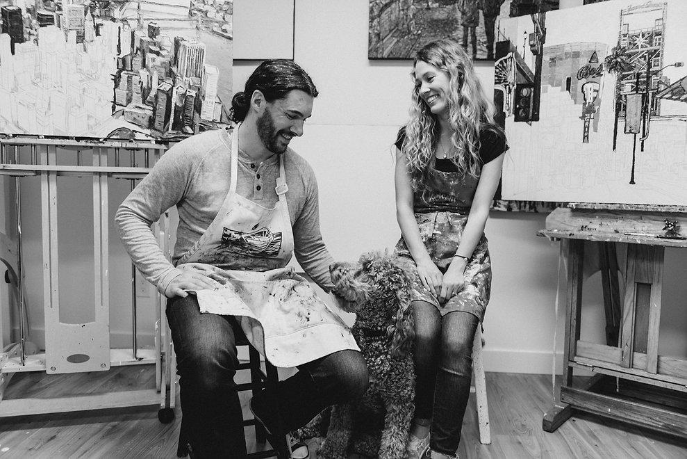 Emilie Fantuz artist studio