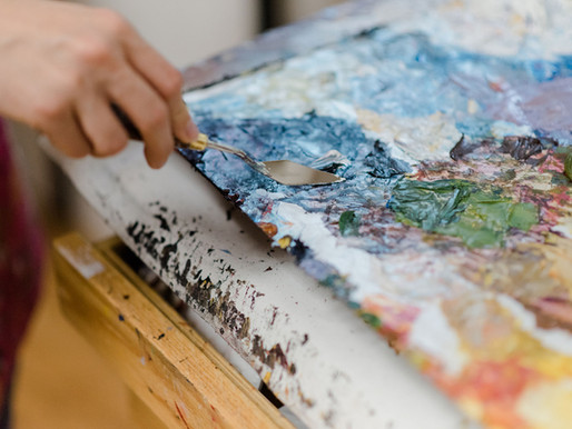 What is palette knife painting?