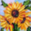 Sunflowers, 10 x 10, Oil, Emilie Fantuz