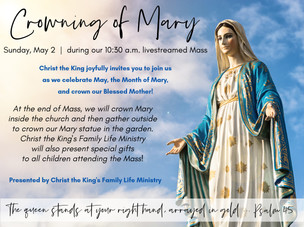 May, the Month of Mary