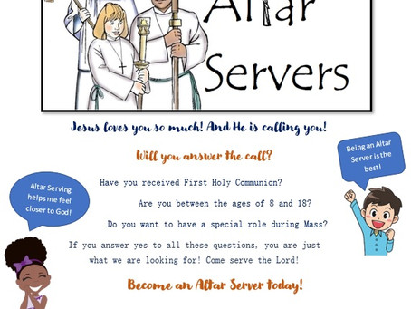 Wanted: altar servers!
