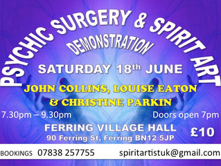 PSYCHIC SURGERY & SPIRIT ART DEMONSTRATION