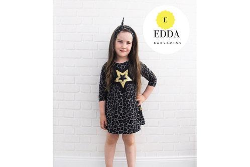 Leopar Desen Bandanalı Elbise (6 ay- 4 yaş )