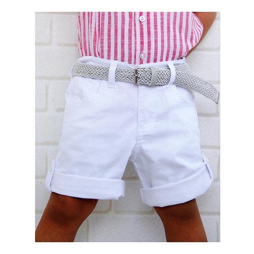 Kapri Şort -Beyaz  (2-6 yaş)
