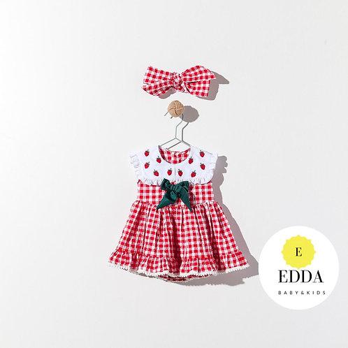 Strawberry Elbise + Bandana