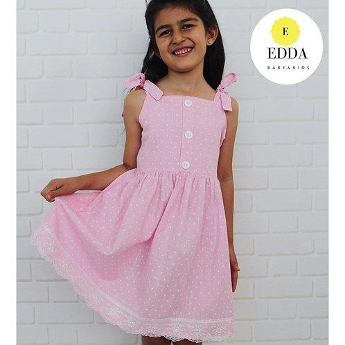 Güpür Detalı Elbise (4-7 yaş)