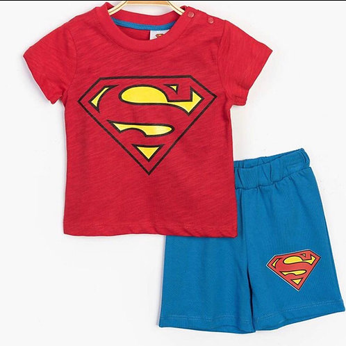 Superman Penye Şortlu Takım