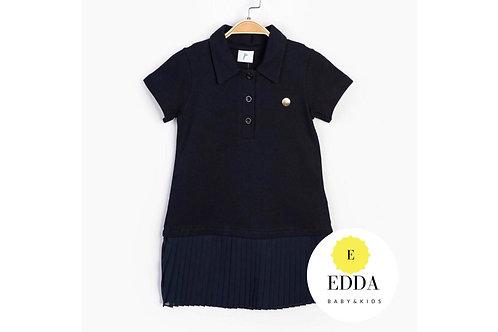 Polo Yaka Tül Etek Elbise