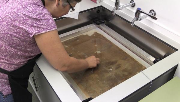 heated lab sink, conservation equipment