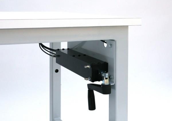 Height adjustable work-bench handle in