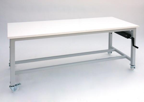Height adjustable work-bench