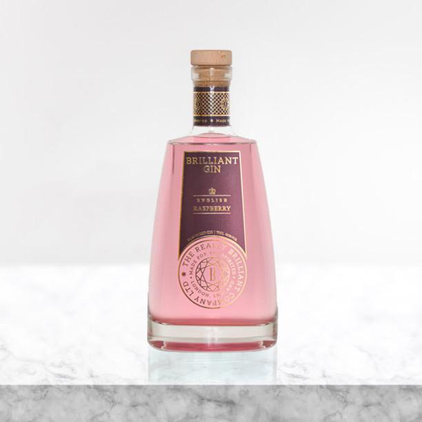 Brilliant english raspberry gin