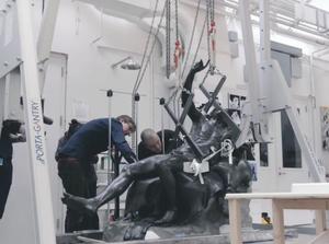 conservation project of roman bronze sculpture