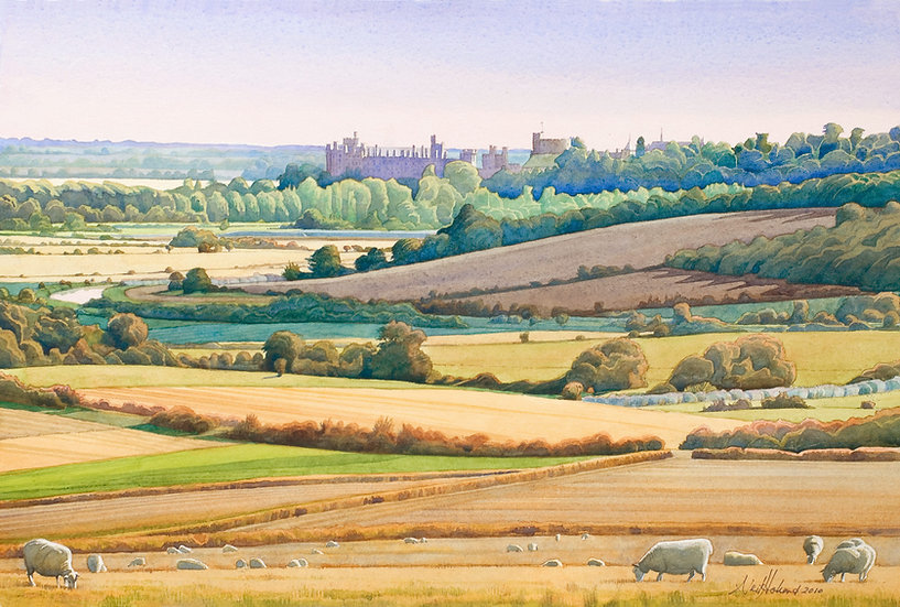 Towards Arundel Castle