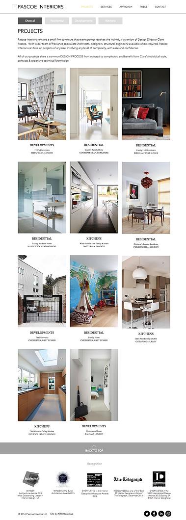 Websites for interior design
