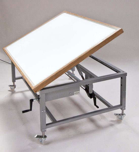 lightbox table with tilting top