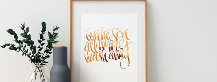 By The Sea - Art Print