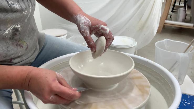 Porcelain on the wheel