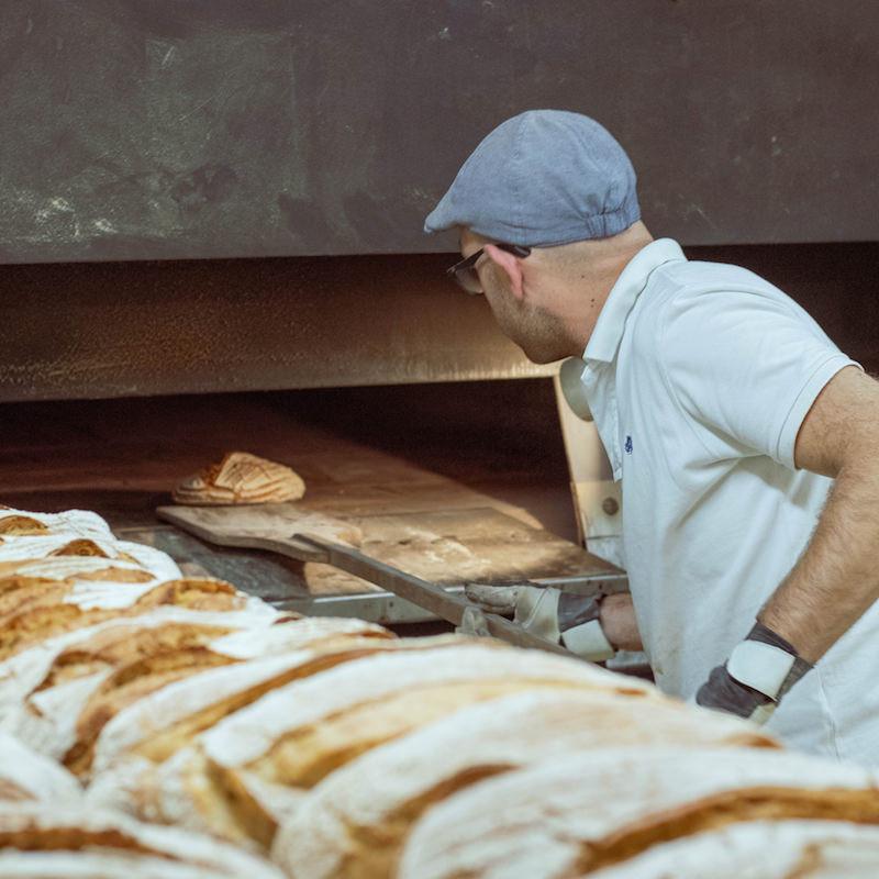 Baker at work