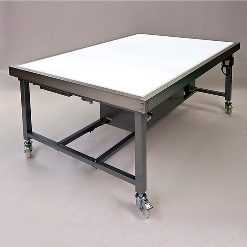 Sub-illuminated suction table
