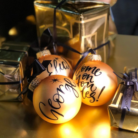 Calligraphy on Baubles