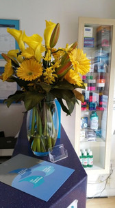 Flowers from a satisfied customer!