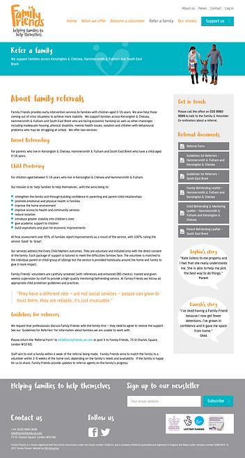 website design for charities